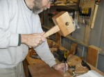 Marking in the tenons for the first class saw cut